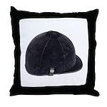 Equestrian Helmet Throw Pillow
