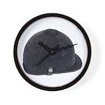 Equestrian Helmet Wall Clock