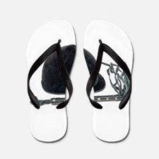 Equestrian Helmet and Whip Flip Flops