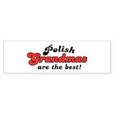 Polish Grandmas Bumper Bumper Stickers