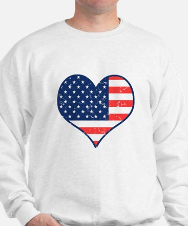 Patriotic Heart with Flag Jumper