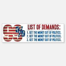 99% Demands Bumper Bumper Bumper Sticker