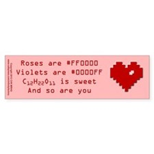 Geek Valentine Bumper Sticker