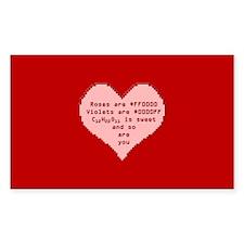 Geek Valentine Decal