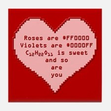Geek Valentine Tile Coaster