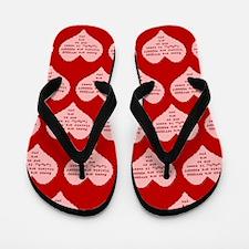 Geek Valentine Flip Flops