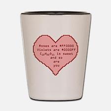 Geek Valentine Shot Glass