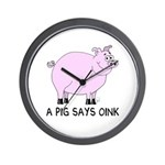 A Pig Says Oink Wall Clock