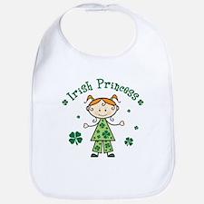 Irish Princess Stick Figure Bib