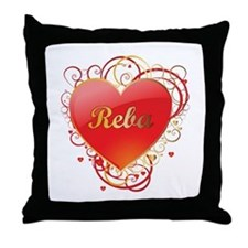 Reba Valentines Throw Pillow