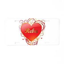 Reba Valentines Aluminum License Plate