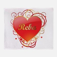Reba Valentines Throw Blanket