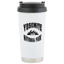Yosemite Old Style Black Travel Mug