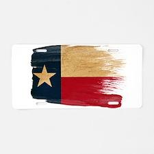 Texas Flag Aluminum License Plate