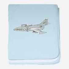 Grumman F9F Cougar baby blanket
