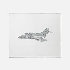 Grumman F9F Cougar Throw Blanket
