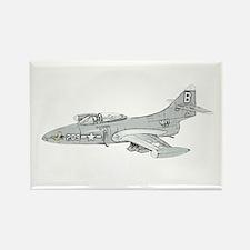 Grumman F9F Cougar Rectangle Magnet