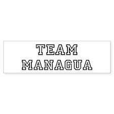 Team Managua Bumper Bumper Sticker