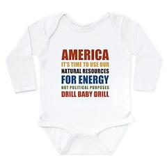 American Energy Long Sleeve Infant Bodysuit