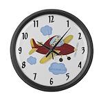 Airplane LARGE Wall Clock - Giraffe