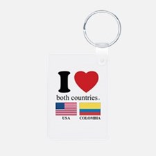 USA-COLOMBIA Keychains