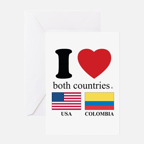USA-COLOMBIA Greeting Card