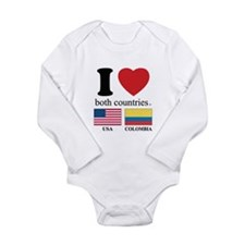 USA-COLOMBIA Long Sleeve Infant Bodysuit