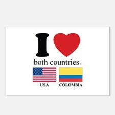 USA-COLOMBIA Postcards (Package of 8)