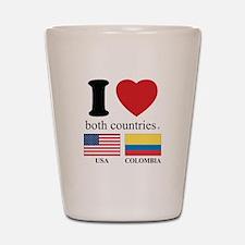 USA-COLOMBIA Shot Glass