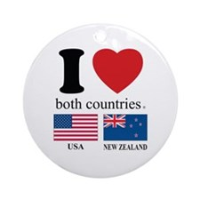 USA-NEW ZEALAND Ornament (Round)