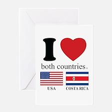 USA-COSTA RICA Greeting Card