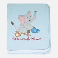 Baseball - Elephant baby blanket