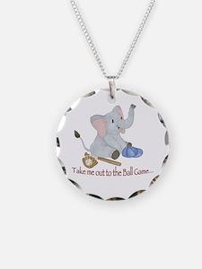 Baseball - Elephant Necklace