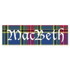Tartan - MacBeth Bumper Sticker