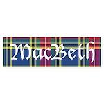 Tartan - MacBeth Sticker (Bumper)