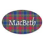 Tartan - MacBeth Sticker (Oval)