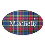 Tartan - MacBeth Sticker (Oval 10 pk)