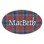 Tartan - MacBeth Sticker (Oval 50 pk)