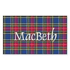 Tartan - MacBeth Decal
