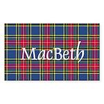 Tartan - MacBeth Sticker (Rectangle)
