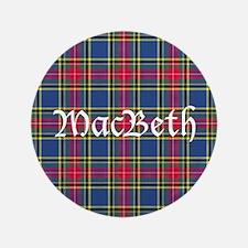 "Tartan - MacBeth 3.5"" Button (100 pack)"