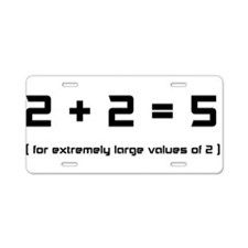 Extremely Large Twos Aluminum License Plate