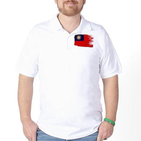 Taiwan Flag Golf Shirt