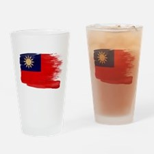 Taiwan Flag Drinking Glass