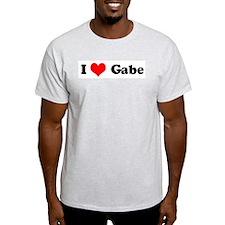 I Love Gabe Ash Grey T-Shirt
