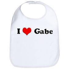 I Love Gabe Bib