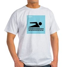 iSwim Ash Grey T-Shirt