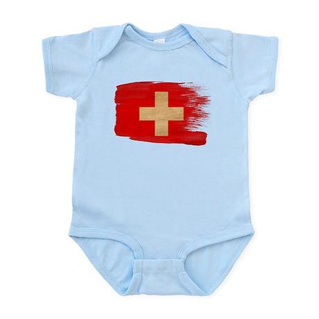 Switzerland Flag Infant Bodysuit