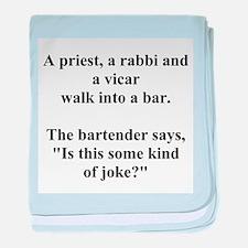 a bar joke baby blanket