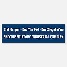End Illegal Wars - Car Car Sticker